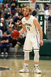 20 February 2016:  Colin Bonnett(11) during an NCAA men's division 3 CCIW basketball game between the Elmhurst Bluejays and the Illinois Wesleyan Titans in Shirk Center, Bloomington IL
