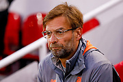 Liverpool manager Jurgen Klopp  during the Champions League semi final leg 1 of 2 match between Liverpool and Roma at Anfield, Liverpool, England on 24 April 2018. Picture by Simon Davies.