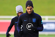 England forward Marcus Rashford during the England football team training session at St George's Park National Football Centre, Burton-Upon-Trent, United Kingdom on 13 November 2019.