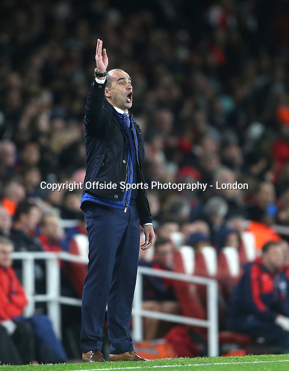 24 October 2015 Premier League Football - Arsenal v Everton : Everton manager Roberto Martinez.<br /> Photo: Mark Leech