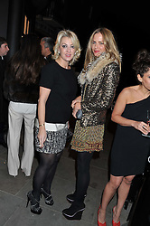 Left to right, BEATRICE WARRENDER and TRINNY WOODALL at a private view of photographs by Anthony Souza held at The Little Black Gallery, 13A Park Walk, London SW10 on 13th December 2011.