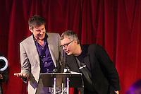 Alan Moulder & Flood (Mark Ellis) UK Producer of the year winners (L to R).The Music Producers Guild Awards, Park Plaza Riverbank London :Thursday, Feb 13. 2014 (Photo John Marshall/JM Enternational)