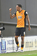 Hull City striker Abel Hernandez celebrates scoring for Hull City to go 2-0 up  during the Sky Bet Championship match between Hull City and Burnley at the KC Stadium, Kingston upon Hull, England on 26 December 2015. Photo by Ian Lyall.