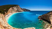 Porto Katsiki beach in Lefkada island