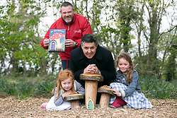 Repro Free: Dublin Released  <br /> National Enterprise Week Launch Photograph <br /> Gavin Lawlor, Production Manager of The Irish Fairy Door Company and Gerry Prizeman, Head of Enterprise Development, Bank of Ireland are pictured with William Juliette (6) and Caroline Morgan (8) at the fairy wood in Corkagh Park, Clondalkin, Dublin to announce the launch of the Bank&rsquo;s tenth National Enterprise Week which runs from  Friday, 16  May - Friday, 23  May 2014. The theme of the week is &ldquo;Enabling Enterprise&rdquo; and the Bank is focused on supporting Ireland&rsquo;s SMEs, start-ups and the Agri sector to help foster business growth and development in the Irish economy. A number of events will take place around the country including economic and enterprise breakfasts, social media clinics and  business owners will also  be showcasing their companies at the &lsquo;Show Your Business&rsquo; events in Bank branches throughout the country. Picture Andres Poveda