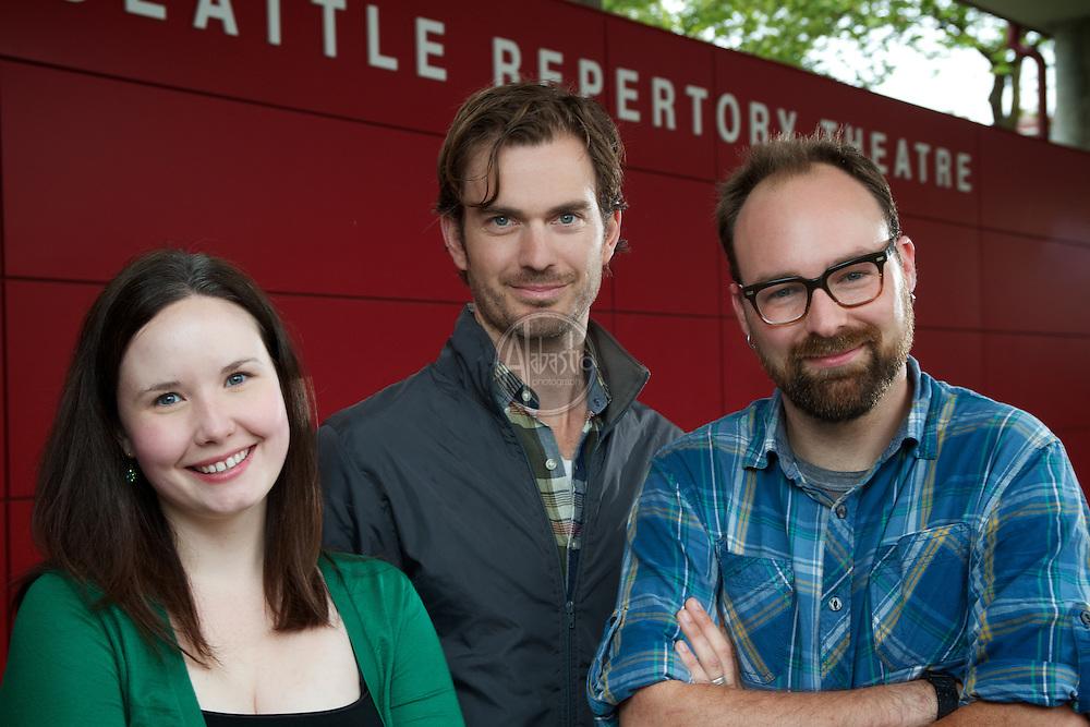 Seattle Reperatory Theatre Artistic Staff, June 2012: Braden, Erin, L.B.