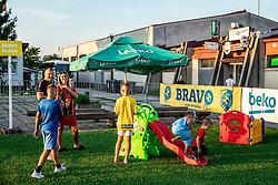 Fun zone before and after football match between NK Bravo and NK Aluminij in 5th Round of Prva liga Telekom Slovenije 2019/20, on August 9, 2019 in Sports park ZAK, Ljubljana, Slovenia. Photo by Vid Ponikvar / Sportida