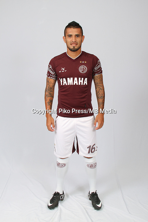 CAMPEONATO ARGENTINO Soccer / Football. <br /> LANUS Portraits <br /> Bs.As. Argentina. - March 12, 2015<br /> Here Lanus player Victor Ayala<br /> &copy; PikoPress