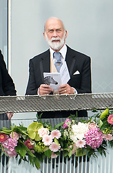 © Licensed to London News Pictures. 07/06/2014. Epsom, UK. Prince Michael of Kent. Derby Day today 7th June 2014 at Epsom 2014 Investic Derby Festival in Surrey. Traditionally, elegant, fashionable racegoers gather for a classic day's racing at Epsom Racecourse, Surrey. Photo credit : Stephen Simpson/LNP