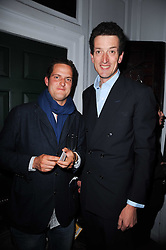 Left to right, VALENTINE WARNER and BEN WEATHERALL at a party to celebrate the publication of Kitchenella by Rose Prince held at Blacks, 67 Dean Street, London W1 on 16th September 2010.