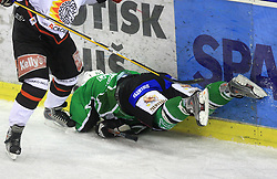 Tomaz Vnuk at 39th Round of EBEL League ice hockey match between HDD Tilia Olimpija and HK Acroni Jesenice, on December 30, 2008, in Arena Tivoli, Ljubljana, Slovenia. Tilia Olimpija won 4:3. (Photo by Vid Ponikvar / SportIda).