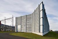 Power Station, Landsvirkjun at Akureyri. Spennuvirki Landsvirkjunar á Akureyri.