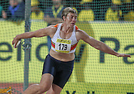 PRETORIA, SOUTH AFRICA, Friday 20 April 2012, Elizna Naude in the women's discus during the Yellow Pages Series 3 held at the Absa Tuks stadium..Photo by Roger Sedres/ImageSA/ASA