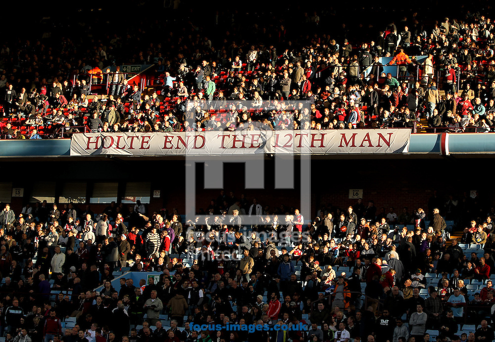 The Holte End of Villa Park before the Barclays Premier League match at Villa Park, Birmingham<br /> Picture by Tom Smith/Focus Images Ltd 07545141164<br /> 04/10/2014
