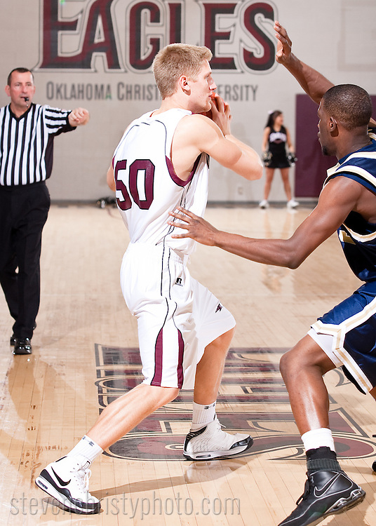 February 14, 2009: The Wayland Baptist University Pioneers play against the Oklahoma Christian University Eagles at the Eagles Nest on the campus of Oklahoma Christian University.