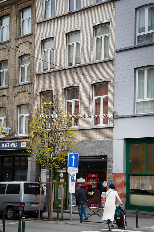 Brussels Belgium Molenbeek 20 November 2015. Chaussee de Merchtem 104 where a Syrian family was arrested by the police.