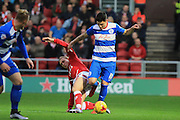 Bristol City midfielder Luke Freeman and Queens Park Rangers midfielder Alejandro Faurlin during the Sky Bet Championship match between Bristol City and Queens Park Rangers at Ashton Gate, Bristol, England on 19 December 2015. Photo by Jemma Phillips.