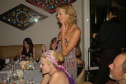 Maggie Grace and Elle Macpherson, Natalia Vodianova and Elle Macpherson host a dinner in honor of Francisco Costa (creative Director for women) and Italo Zucchelli (creative director for men)  of Calvin Klein. Locanda Locatelli, 8 Seymour St. London W1. ONE TIME USE ONLY - DO NOT ARCHIVE  © Copyright Photograph by Dafydd Jones 66 Stockwell Park Rd. London SW9 0DA Tel 020 7733 0108 www.dafjones.com