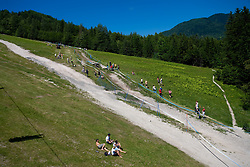 Panoramic view at MTB Downhill European Championships, on June 14, 2009, at Kranjska Gora, Slovenia. (Photo by Vid Ponikvar / Sportida)