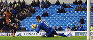 Marco Silvestri of Leeds United saves from Sone Aluko of Hull City during the Sky Bet Championship match at Elland Road, Leeds<br /> Picture by Graham Crowther/Focus Images Ltd +44 7763 140036<br /> 05/12/2015