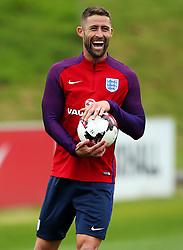 England's Gary Cahill laughs - Mandatory by-line: Matt McNulty/JMP - 29/08/2017 - FOOTBALL - St George's Park National Football Centre - Burton-upon-Trent, England - England Training and Press Conference