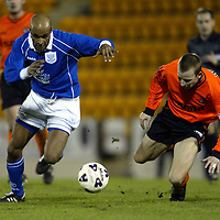 St Johnstone v Dundee Utd   19.01.02<br />St Johnstone new boy Sammi Youssouf turns Jim McIntyre<br /><br />Pic by Graeme Hart<br />Copyright Perthshire Picture Agency<br />Tel: 01738 623350 / 07990 594431
