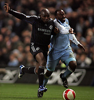 Photo: Paul Thomas.<br /> Manchester City v Chelsea. The Barclays Premiership. 14/03/2007.<br /> <br /> Geremi (L) of Chelsea battles Darius Vassell.