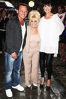 Perry Fenwick, Barbara Windsor & Emma Barton, Spamalot - Barbara Windor Guest Appearance, London 05 August 2013 (Photo by Brett D. Cove)