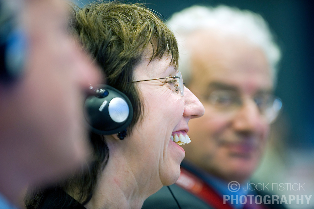 Catherine Ashton, European commissioner of trade, from the U.K., attends the Business Europe Conference, Tuesday, Oct. 28, 2008, in Brussels, Belgium. (Photo © Jock Fistick)