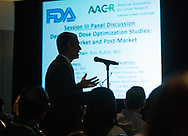 Q&A during panel session at FDA-AACR Oncology Dose Finding Workshop at Walter E. Washington Convention Center in Washington, DC, on Monday, June 13, 2016.  (Alan Lessig/)