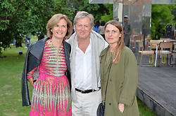 John & Catherine Pawson and their daughter Phoebe Pawson at the Dulwich Picture Gallery's inaugural Summer Party, Dulwich Picture Gallery, College Road, London England. 13 June 2017.