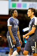 Southend United striker Nile Ranger (50) pulling a face during the EFL Sky Bet League 1 match between Southend United and Bradford City at Roots Hall, Southend, England on 19 November 2016. Photo by Matthew Redman.