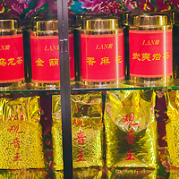 BEIJING, JANUARY-19: Chinese herbs are displayed in a vitrine in  the LAN Club, the latest addition to Beijing's high-end venues, January 19, 2007...The LAN was designed by Phillipe Starck and spans 6000 square metres.