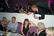 Meredith Ostrom, Simon Mills, Chrissie Hynde and Charlie Ross, auctioneer, Not Another Burns night.  Fundraising gala in aid of Clic Sargent and Children's Hospice Association Scotland (CHAS)St. Martin's Lane Hotel.  Monday 3rd March *** Local Caption *** -DO NOT ARCHIVE-© Copyright Photograph by Dafydd Jones. 248 Clapham Rd. London SW9 0PZ. Tel 0207 820 0771. www.dafjones.com.