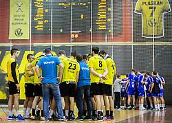 Players of Gorenje during handball match between RK Gorenje Velenje and RK Celje Pivovarna Lasko in Round #19 of 1st NLB League 2015/16, on February 24, 2016 in Rdeca dvorana, Velenje, Slovenia. Photo by Vid Ponikvar / Sportida