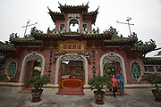 Hokien (Fujian) Meeting Hall (Phuc Kien), 46 Tran Phu Street. Built in 1757.? It is said that Phuc Kien Assembly hall was once a small temple where Thien Hau Thanh Mau statue (a goddess who protects merchants sailing in the sea) was worshiped. It was picked up on the beach of Hoi An in 1697. Due to restorations and support of the Fukien people, the Assembly hall became resplendent and spacious taking part in the embellishment of Hoi An architecture.
