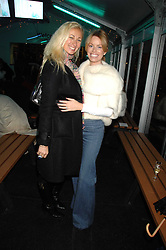 Left to right, JENNY HALPERN-PRINCE and CAROLINE HABIB at a Winter Party to celebrate the opening of the Ice Rink at Somerset House, London in association with jewellers Tiffany on 20th November 2007.<br />