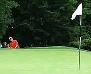 Jun 26, 2006; Gaylord MI; Andy North chips up to the ninth green during the ING Par-3 Shootout at Treetops Resort in Gaylord Michigan.
