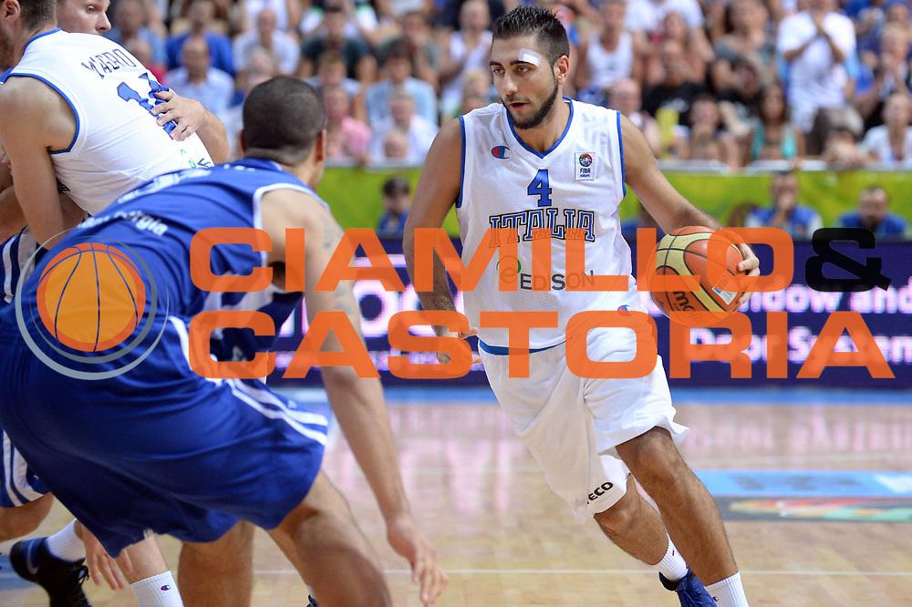 DESCRIZIONE : Capodistria Koper Slovenia Eurobasket Men 2013 Preliminary Round Italia Finlandia Italy Finland<br /> GIOCATORE : Pietro Aradori<br /> CATEGORIA : Palleggio<br /> SQUADRA . Italia<br /> EVENTO : Eurobasket Men 2013<br /> GARA : Italia Finlandia Italy Finland<br /> DATA : 07/09/2013<br /> SPORT : Pallacanestro&nbsp;<br /> AUTORE : Agenzia Ciamillo-Castoria/Max.Ceretti<br /> Galleria : Eurobasket Men 2013 <br /> Fotonotizia : Capodistria Koper Slovenia Eurobasket Men 2013 Preliminary Round Italia Finlandia Italy Finland<br /> Predefinita :