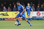 AFC Wimbledon midfielder Liam Trotter (14) dribbling during the The FA Cup match between AFC Wimbledon and Charlton Athletic at the Cherry Red Records Stadium, Kingston, England on 3 December 2017. Photo by Matthew Redman.