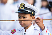 Drummer boy concentrating at new hospital wing opening ceremony, Myitkyina