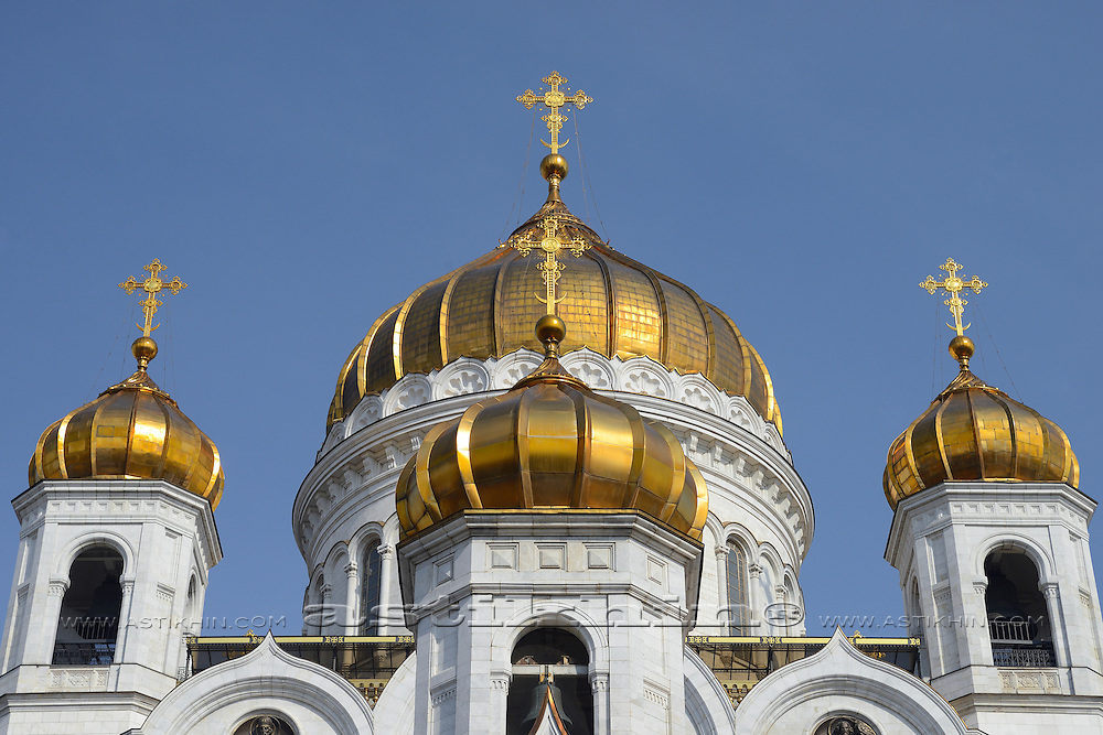The Cathedral of Christ the Savior. Moscow, Russia.