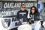 Dec 3, 2017; Oakland, CA, USA; General view of the Ultimate Fan Experience prior to an NFL game between the New York Giants and the Oakland Raiders at Oakland-Alameda County Coliseum.