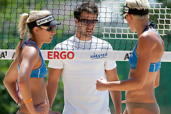 Simona Fabjan, Rok Klavora and Andreja Vodeb at A1 Beach Volleyball Grand Slam presented by ERGO tournament of Swatch FIVB World Tour 2012, on July 17, 2012 in Klagenfurt, Austria. (Photo by Matic Klansek Velej / Sportida)