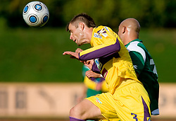 Elvedin Dzinic of Maribor vs Senad Tiganj of Olimpija at 13th Round of Prva Liga football match between NK Olimpija and Maribor, on October 17, 2009, in ZAK Stadium, Ljubljana. Maribor won 1:0. (Photo by Vid Ponikvar / Sportida)