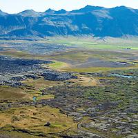 Landbrot eyðibýli séð til austurs. Borgarbyggð áður Koilbeinsstaðahreppur /  Landbrot deserted farm in in front. Viuewing east. Borgarbyggd former Kolbeinsstaðahreppur