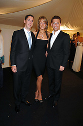 Left to right, CHRIS CANDY, EMILY CROMPTON and NICK CANDY at the Berkeley Square End of Summer Ball in aid of the Prince's Trust held in Berkeley Square, London on 27th September 2007.<br />