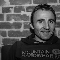 Portrait shoot of the swiss alpinist Ueli Steck. Taken on location at the Boulder Theatre. Taken by Craig Hoffman Photography
