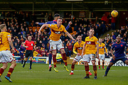 Alex Rodriguez Gorrin of Motherwell heads towards goal during the Ladbrokes Scottish Premiership match between Motherwell and Heart of Midlothian at Fir Park, Motherwell, Scotland on 17 February 2019.