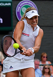 LONDON, ENGLAND - Tuesday, July 10, 2018: Angelique Kerber (GER) during the Ladies' Singles Quarter-Final match on day eight of the Wimbledon Lawn Tennis Championships at the All England Lawn Tennis and Croquet Club. (Pic by Kirsten Holst/Propaganda)
